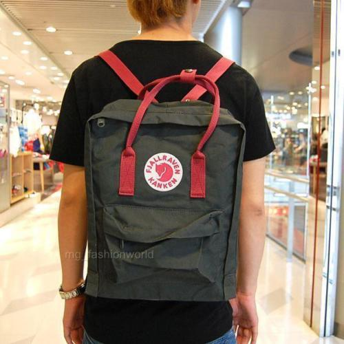 Balo Kanken Classic Forest Green Ox Red