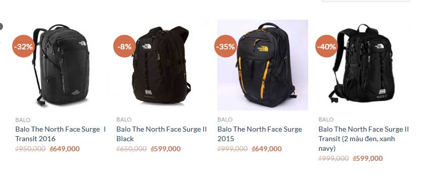 Balo The North Face Surge